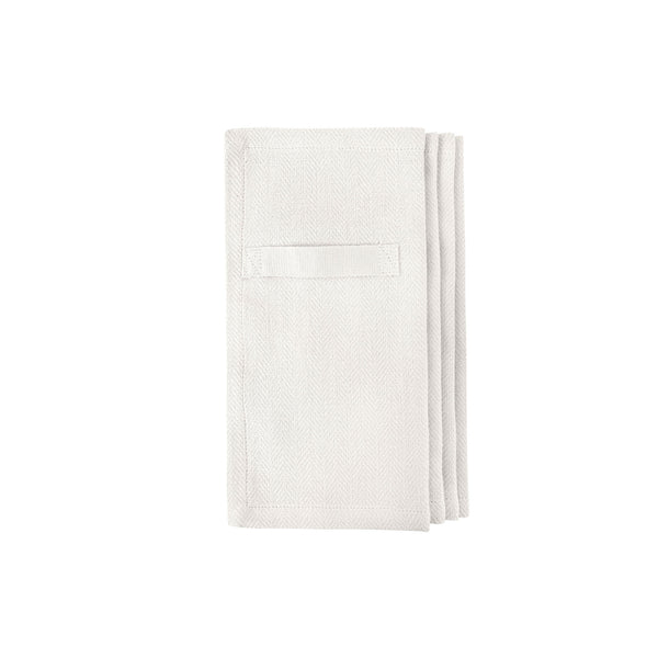 four natural white gots certified organic reusable napkins for everyday use