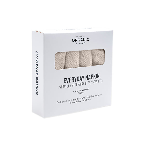 The Organic Company Everyday Napkin Herringbone 202 Stone