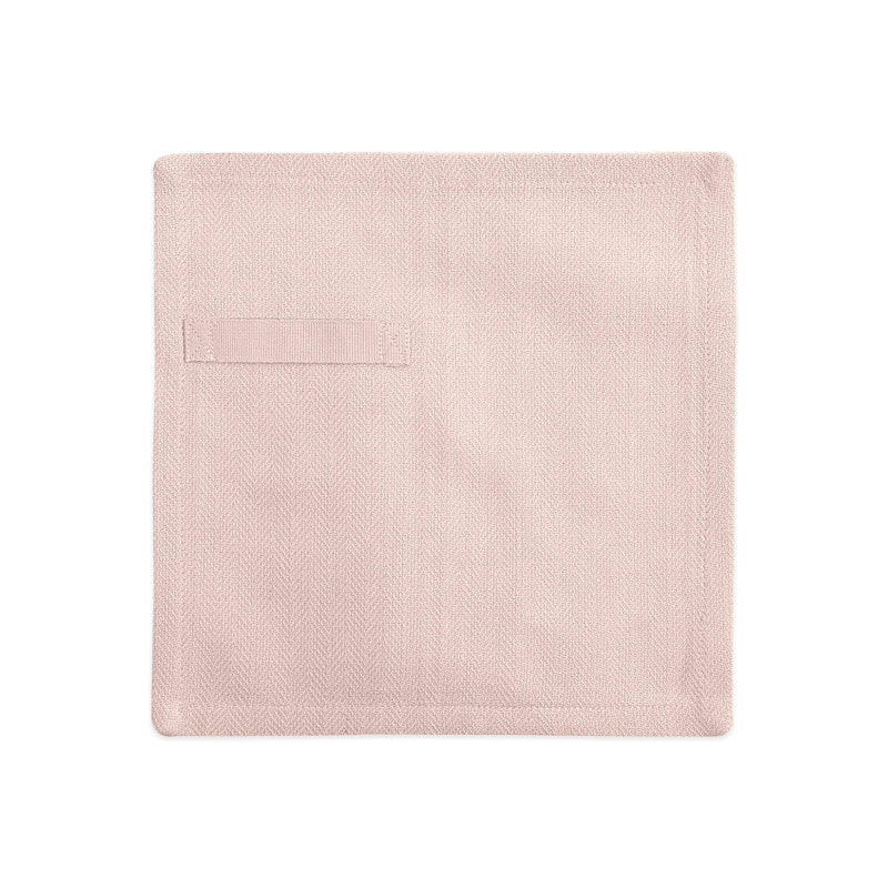 Rose colored napkin unfolded