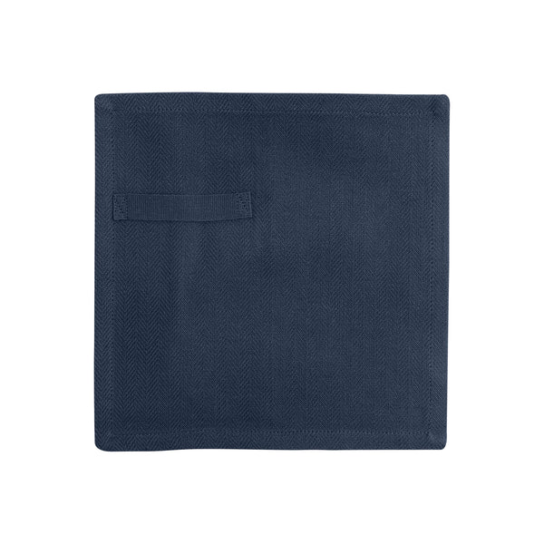 Dark blue napkin unfolded