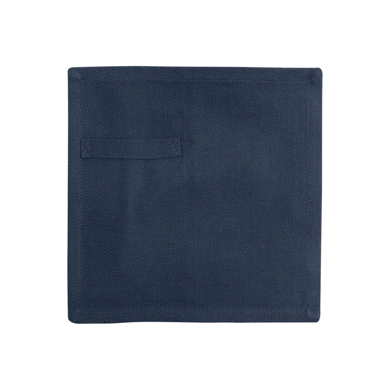 Dark blue gots certified organic everyday napkin unfolded