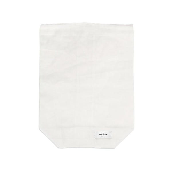 White gots certified organic and reusable food bag