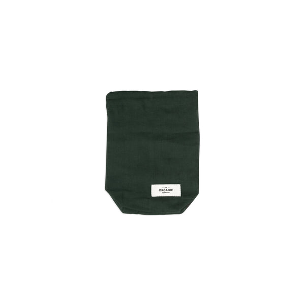 The Organic Company Food Bag - Small Gauze 400 Dark green