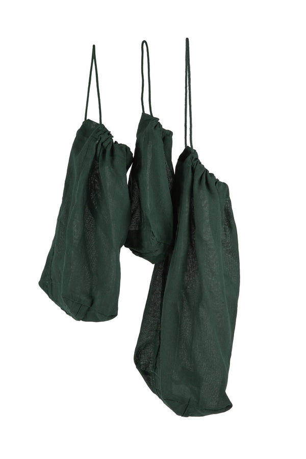 The Organic Company Food bag Set Gauze 400 Dark green