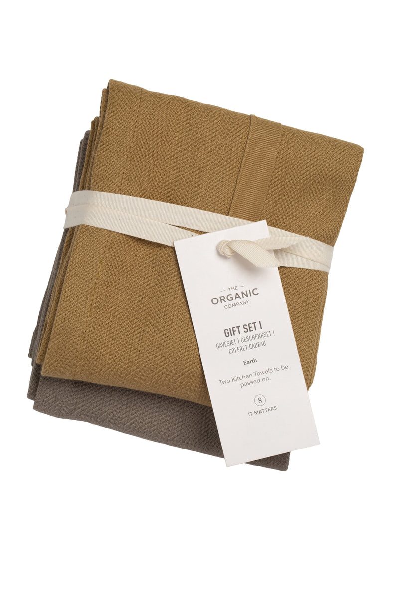 The Organic Company Gift set I Herringbone 951 Earth Set Color Mix