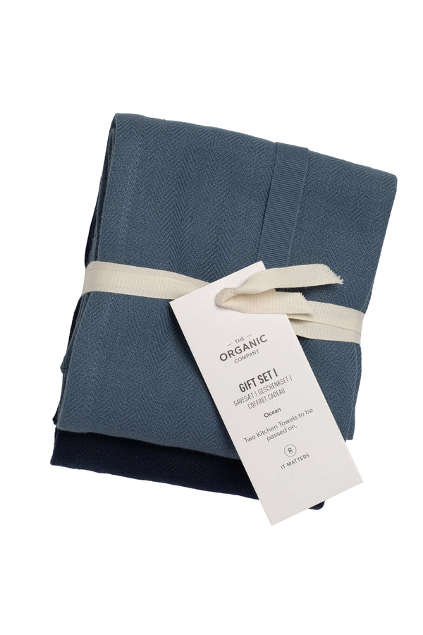 The Organic Company Gift set I Herringbone 953 Ocean Set Color Mix
