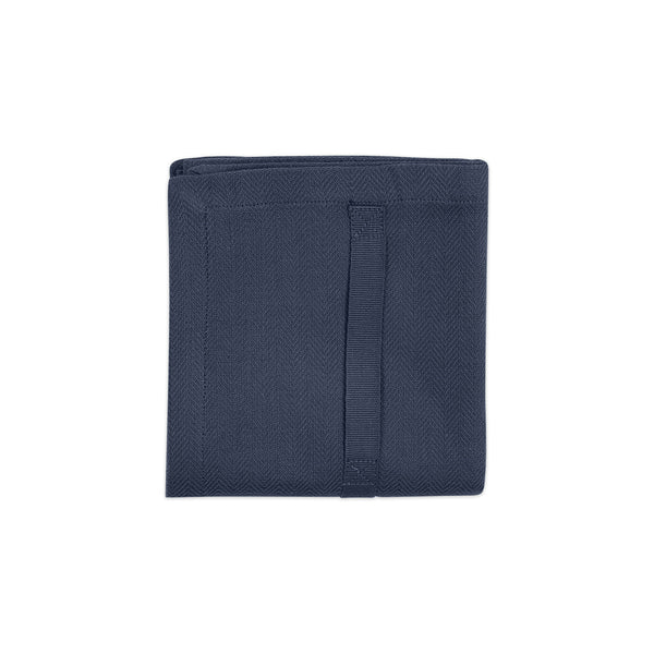 The Organic Company Kitchen Towel Herringbone 500 Dark blue