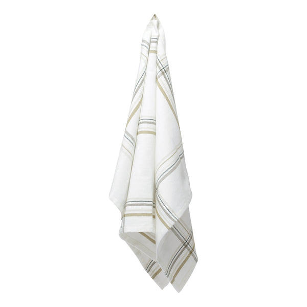 The Organic Company Kitchen Towel Herringbone 801 Earth check