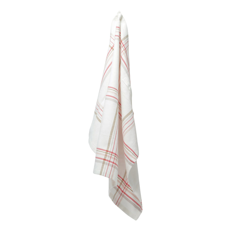 The Organic Company Kitchen Towel Herringbone 802 Floral check