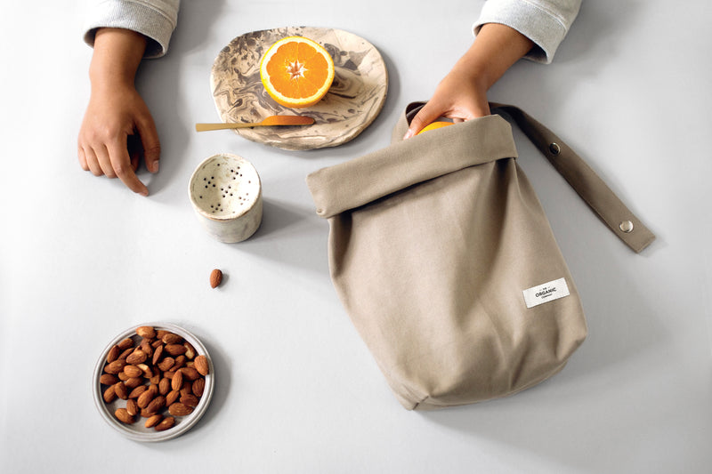 The Organic Company Lunch Bag Heavy canvas 202 Stone
