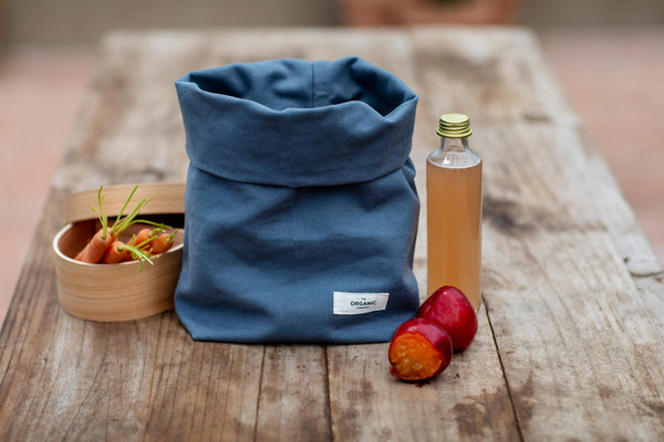The Organic Company Lunch Bag Heavy canvas 500 Dark blue