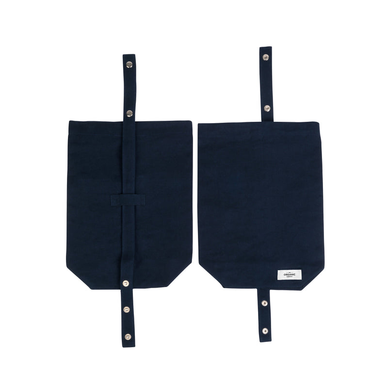 Dark blue gots certified organic reusable lunch bag