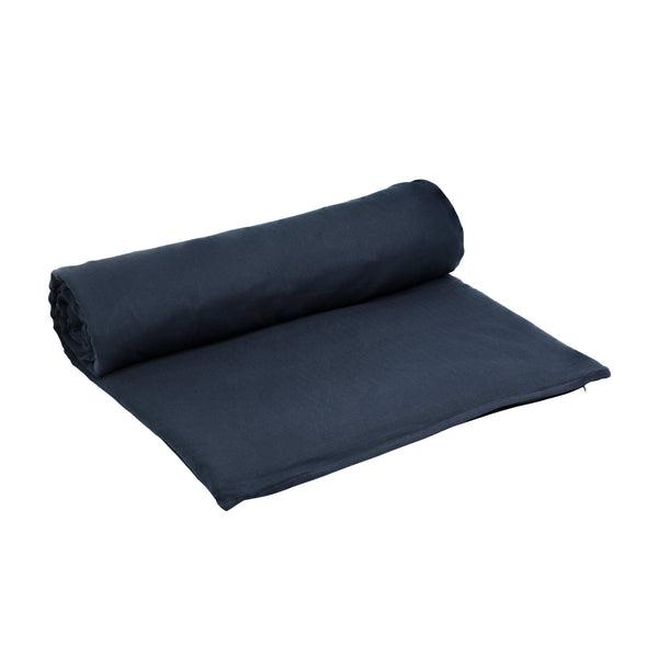 The Organic Company Meditation Mattress Herringbone 500 Dark blue