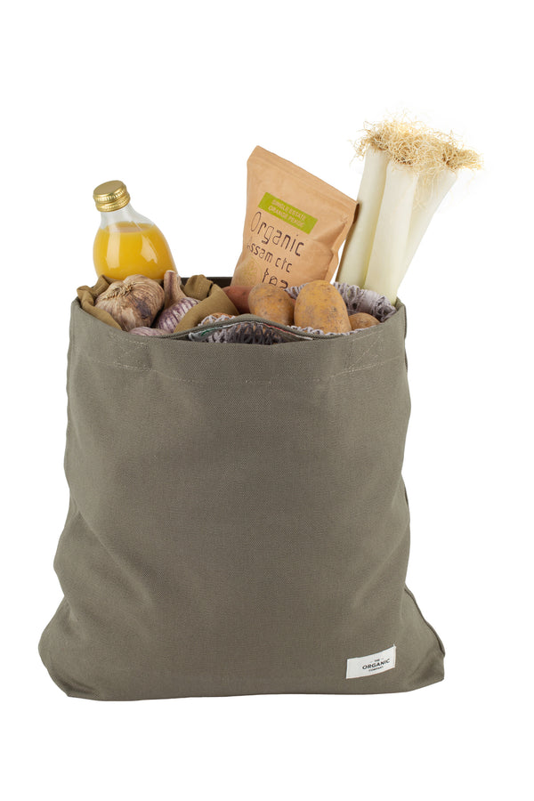 canvas bag with food