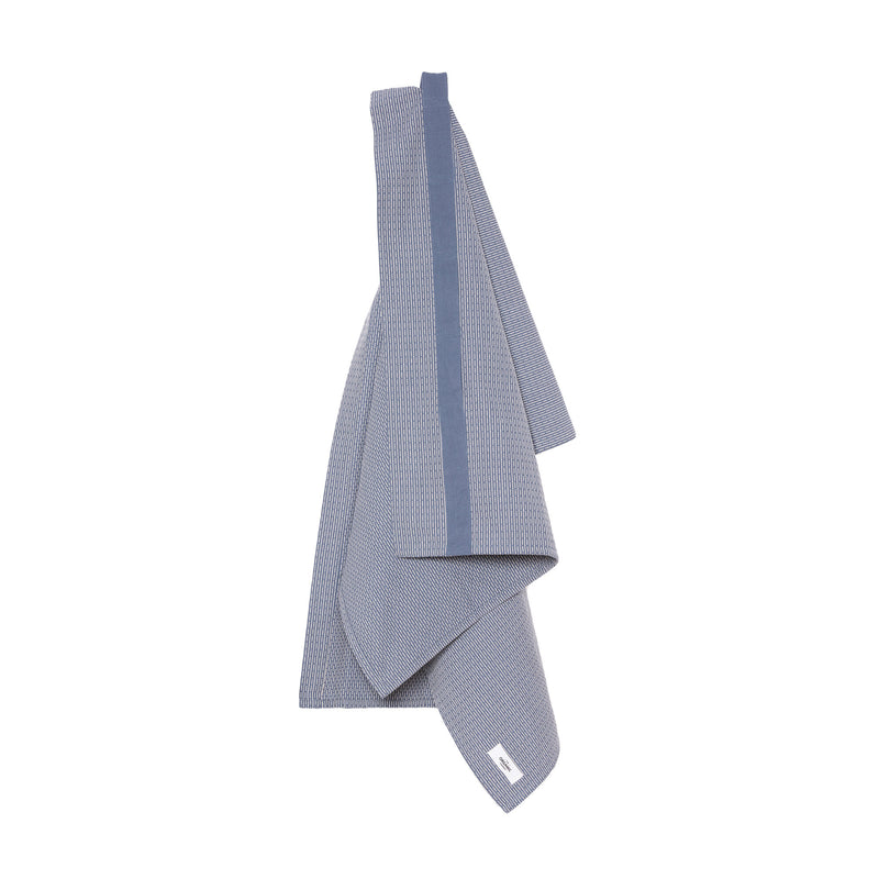 The Organic Company Towel to Wrap Around You Piqué 511 Grey blue stone