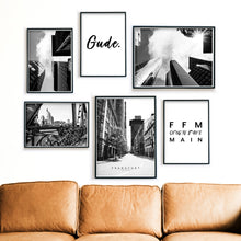 Load image into Gallery viewer, Straßen Frankfurts - Poster Set