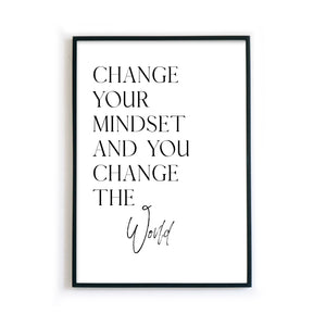 Change the World - Motivation Poster