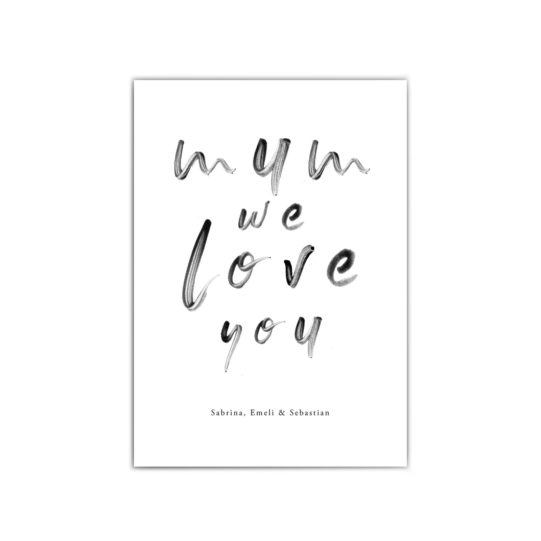Mum We Love You Poster