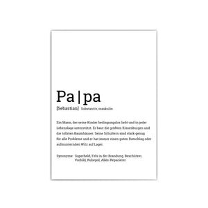 Papa Definition Poster