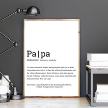 Load image into Gallery viewer, Papa Definition Poster