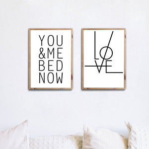You & Me - Love Poster Set