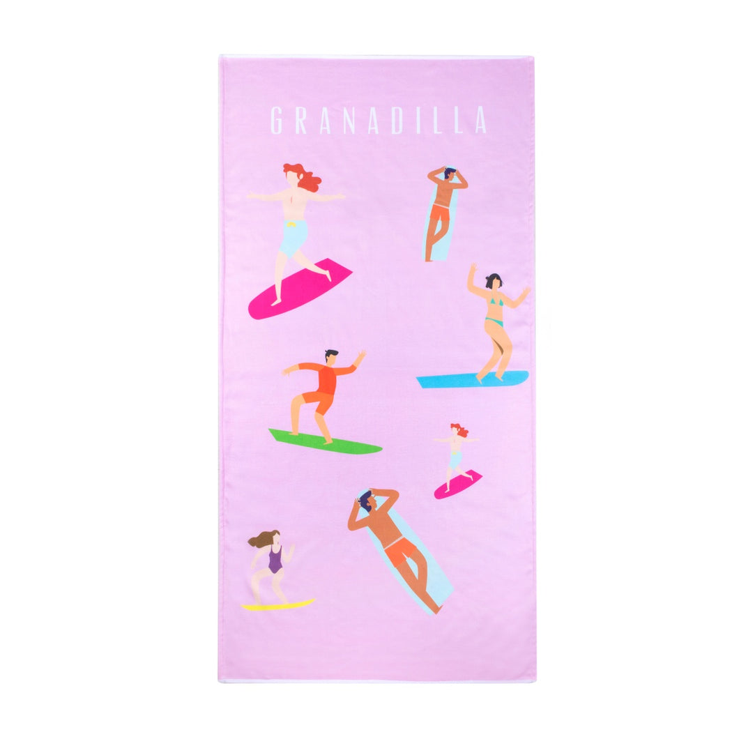 Surfers | Pink / Beach Towel