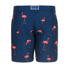 Load image into Gallery viewer, Flamingo | Navy / Tailored / Swimwear Shorts