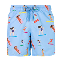 Load image into Gallery viewer, Surfers | Baby Blue / Originals / Swimwear Shorts