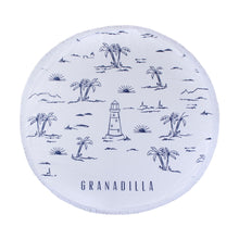 Load image into Gallery viewer, Lighthouse | White / Round Towel