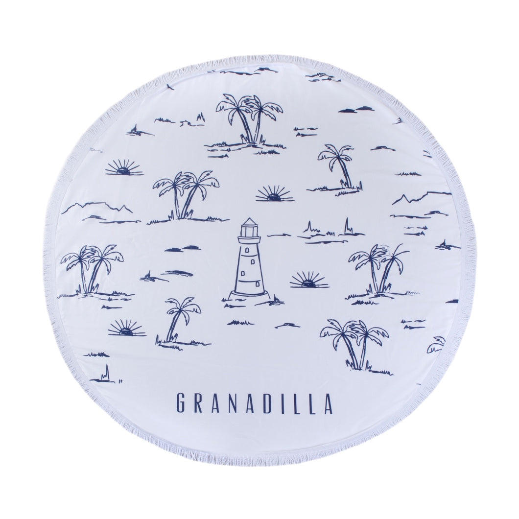 Lighthouse | White / Round Towel