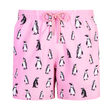 Load image into Gallery viewer, Penguins | Pink / Originals / Swimwear Shorts