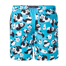 Load image into Gallery viewer, Pandas | Blue / Long / Swimwear Shorts