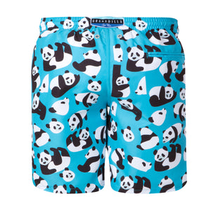 Pandas | Blue / Long / Swimwear Shorts