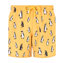Load image into Gallery viewer, Penguins | Yellow / Originals / Swimwear Shorts