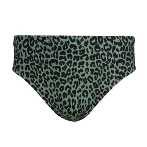 Briefs | Men Olive Leopard Print