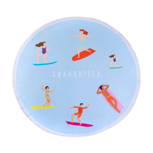 Surfers | Baby Blue / Round Towel