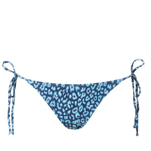 Lace Up Bottom | Leopards Blue