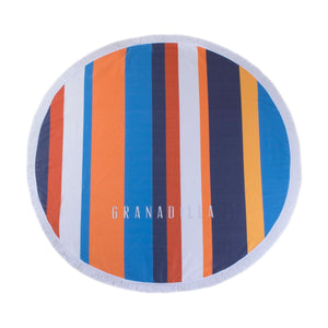 Striped | Multi-color / Round Towel