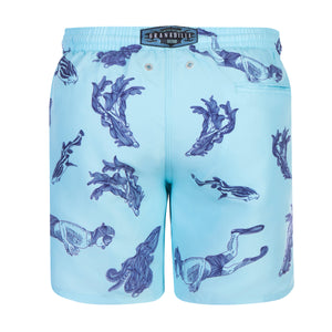 Octopus Diver | Baby Blue / Originals / Swimwear Shorts