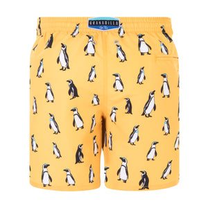 Penguins | Yellow / Originals / Swimwear Shorts