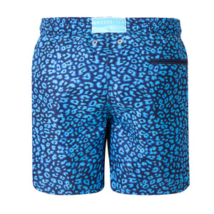 Leopard Print | Blue / Basics / Swimwear Shorts