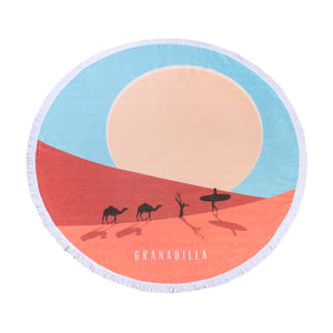 Dune Surfer | Blue / Round Towel