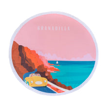 Load image into Gallery viewer, Chapmans Peak | Coral / Round Towel