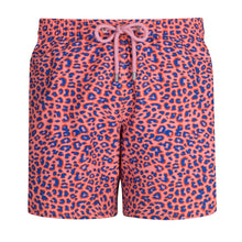 Load image into Gallery viewer, Leopard Print | Coral / Basics / Swimwear Shorts