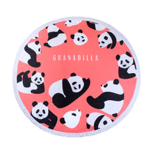 Load image into Gallery viewer, Pandas | Coral / Round Towel