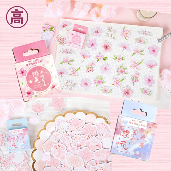 Sakura Cherry Blossom Box Stickers