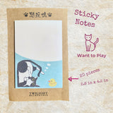 Cute Cat and Rabbit Sticky Notes