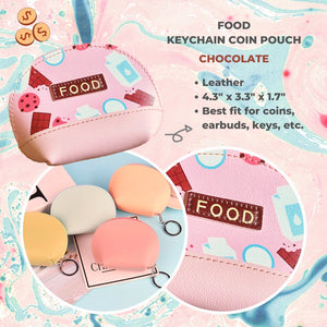 Food Leather Coin Pouch