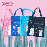 Cute Rabbit and Bear Print School Bags