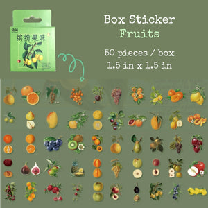 Vintage Style Fruit and Flower Box Stickers